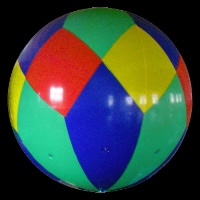 Pelota inflable de colorGO004