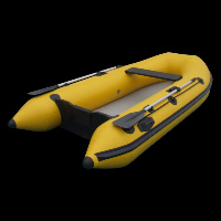 Bote inflable amarilloGT058